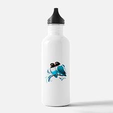 Blue Masked Lovebirds Water Bottle