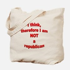 Not a Republican Tote Bag