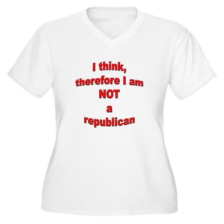 Not a Republican Women's Plus Size V-Neck T-Shirt