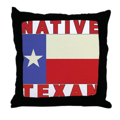 Native Texan Throw Pillow