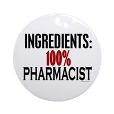 Ingredients: Pharmacist Ornament (Round)