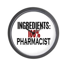 Ingredients: Pharmacist Wall Clock