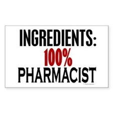 Ingredients: Pharmacist Rectangle Decal