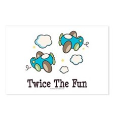 Fun Twin Boys Airplane Postcards (Package of 8)