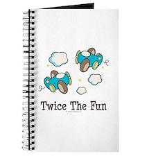 Fun Twin Boys Airplane Journal