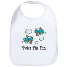 Fun Twin Boys Airplane Bib