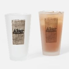 Stone carved Name Graphic Drinking Glass