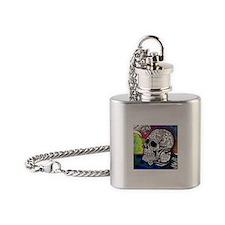 Sugar Skulls Color Splash Designs # Flask Necklace