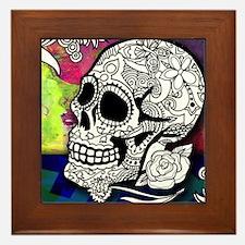 Sugar Skulls Color Splash Designs #WIT Framed Tile