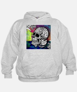 Sugar Skulls Color Splash Designs #WIT Hoody