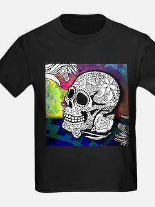 Sugar Skulls Color Splash Designs #WITHMSP T-Shirt