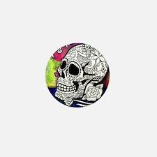 Sugar Skulls Color Splash Designs #WIT Mini Button
