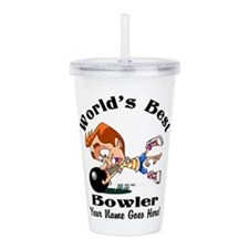 Worlds Best Bowler Acrylic Double-Wall Tumbler