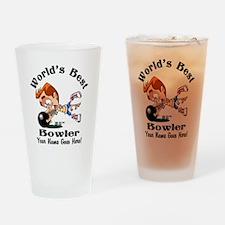Worlds Best Bowler Drinking Glass