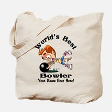 Worlds Best Bowler Tote Bag