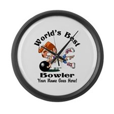 Worlds Best Bowler Large Wall Clock