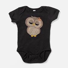Girls owl Baby Bodysuit