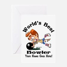 Worlds Best Bowler Greeting Cards
