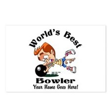 Worlds Best Bowler Postcards (Package of 8)