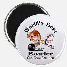 Worlds Best Bowler Magnets