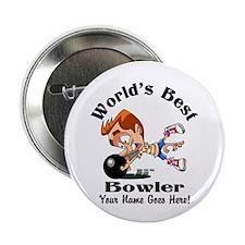 "Worlds Best Bowler 2.25"" Button (10 Pack)"