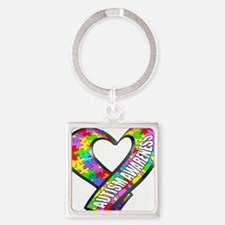 Cute Adhd Square Keychain