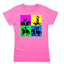 Cute Vaulting Girl's Tee