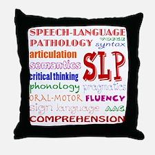 Cute Speech therapist Throw Pillow