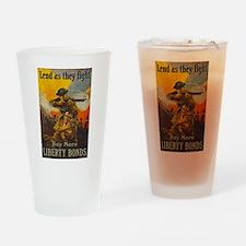 War Bonds Liberty They Fight WWI Pr Drinking Glass