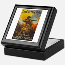 War Bonds Liberty They Fight WWI Prop Keepsake Box