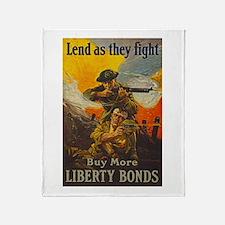 War Bonds Liberty They Fight WWI Pro Throw Blanket