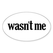 Wasn't Me Oval Decal