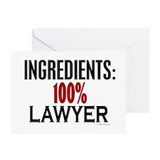 Ingredients: Lawyer Greeting Card
