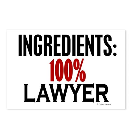 Ingredients: Lawyer Postcards (Package of 8)