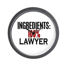 Ingredients: Lawyer Wall Clock