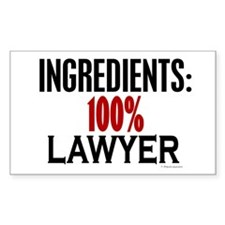 Ingredients: Lawyer Rectangle Decal