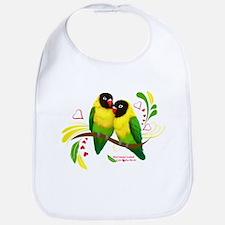 Black Masked Lovebirds Bib