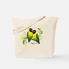 Black Masked Lovebirds Tote Bag