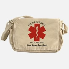 Worlds Best Nurse Messenger Bag