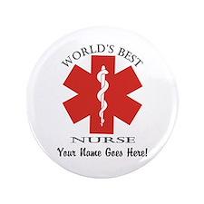 Worlds Best Nurse Button