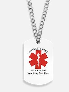 Worlds Best Nurse Dog Tags