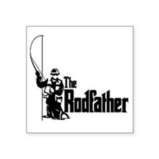 The Rodfather Fun Fishing Quote for him Sticker