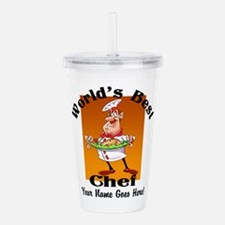 Worlds Best Chef Acrylic Double-Wall Tumbler