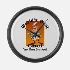 Worlds Best Chef Large Wall Clock
