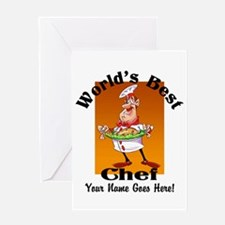 Worlds Best Chef Greeting Cards
