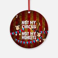 Unique Monkeys Round Ornament