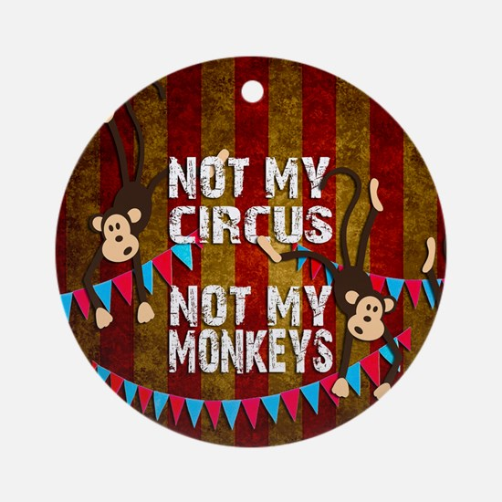 Funny Circus Round Ornament
