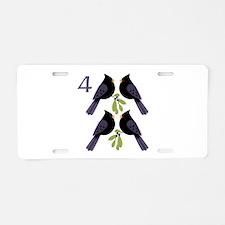 4 Calling Birds Aluminum License Plate