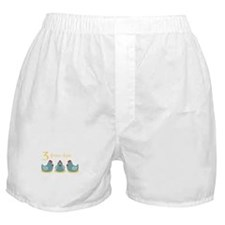 3 French Hen Boxer Shorts