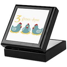 3 French Hen Keepsake Box